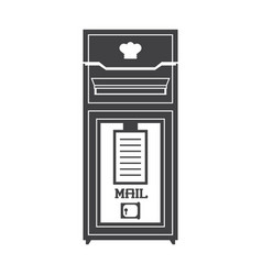 mail letter post icon vector image
