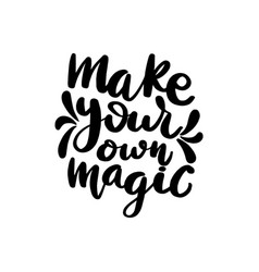 make your own magic lettering vector image