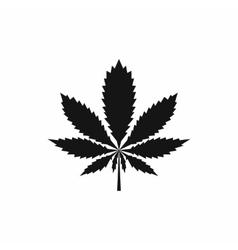 Marijuana leaf icon simple style vector image