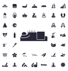 Massage with stones icon vector
