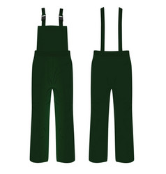 Mechanic pants vector