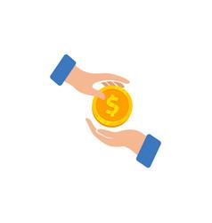 Money transaction logo icon design buying with vector