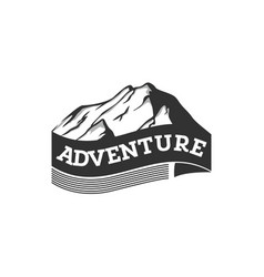 mountain adventure vector image