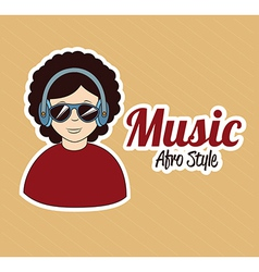 Music design over pink background vector