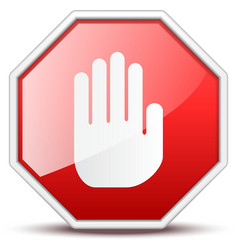 No entry hand sign vector