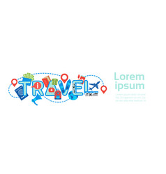 planning travel horizontal banner template vector image