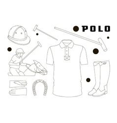 Polo objects Sport uniform vector