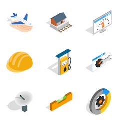 Restore icons set isometric style vector