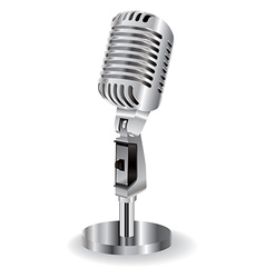 Retro microphone isolated on a white background vector