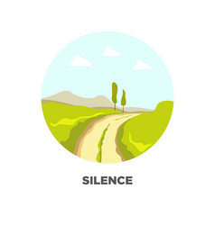 road in field landscape icon for travel vector image