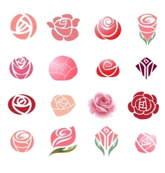 Roses design elements vector image
