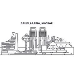 Saudi arabia khobar line skyline vector