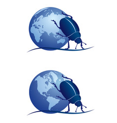 Scarab and globe vector