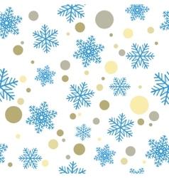 Seamless Christmas backgroundBlue snowflakes and vector image