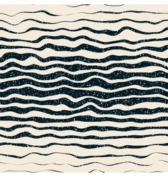 Seamless Horizontal Hand Drawn Distorted vector