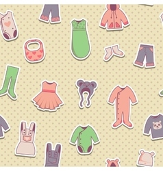 seamless pattern with bacloth icons vector image