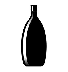 silhouette of a glass wine bottle vector image