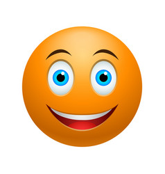 Smile emoticon vector