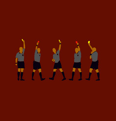 Soccer referee yellow red cards design wallpaper vector