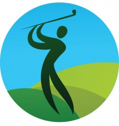 sport silhouette series golf vector image