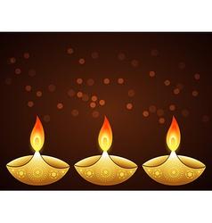 Stylish diwali greeting vector