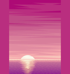 sunrise background vector image vector image