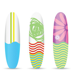 Surfboard set one design vector