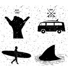surfing designs grunge style vector image