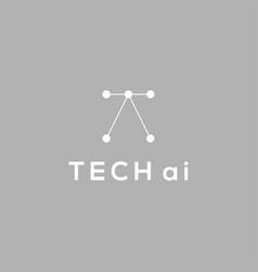Technology artificial intelligence logo design vector