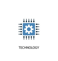 technology concept 2 colored icon simple blue vector image