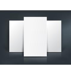 Three paper sheets mockup vector image