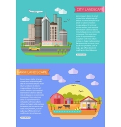 Urban Landscape with road tall vector image