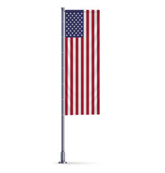 Vertical hanging flag vector