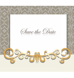 Vintage invitation card with ornaments vector