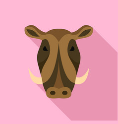 wild pig icon flat style vector image