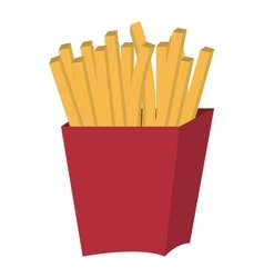 red container and fries graphic vector image