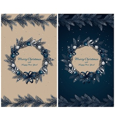 Set of two greeting cards vector image vector image