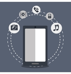 smartphone portable device vector image
