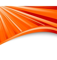 abstract orange ray background vector image vector image