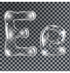 Bubbles letters E vector image vector image