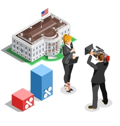 Election news infographic white house us isometric vector