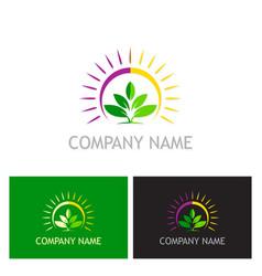 green leaf plant nature logo vector image