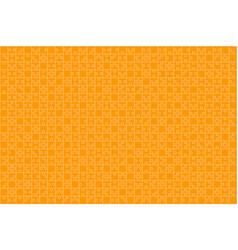 Orange puzzles pieces jigsaw - background vector