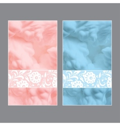 Set of beautiful wedding invitations vector image