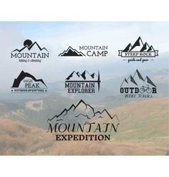 Set of Summer mountain explorer camp badge logo vector image vector image