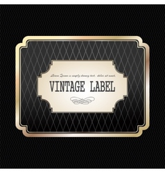 Vintage golden label vector image