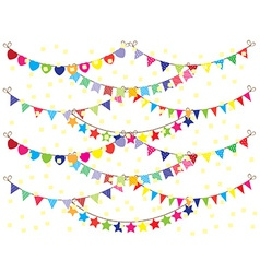 Bunting Background vector image vector image