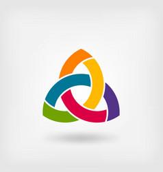 multicolor triquetra symbol vector image vector image