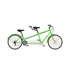 Tandem city bicycle isolated icon vector