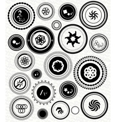 Black retro vintage stamps labels badges vector image